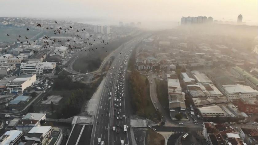 İstanbul'da sis manzaraları, havadan görüntülendi