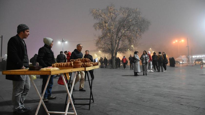 Sivas'ta yoğun sis