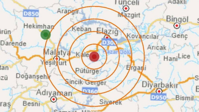 Elazığ depreminden ilk kamera görüntüsü ortaya çıktı