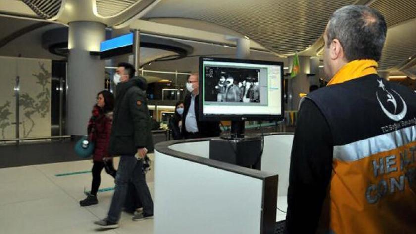 Havalimanı'nda Çin'den gelen yolculara termal kameralarla tarama!