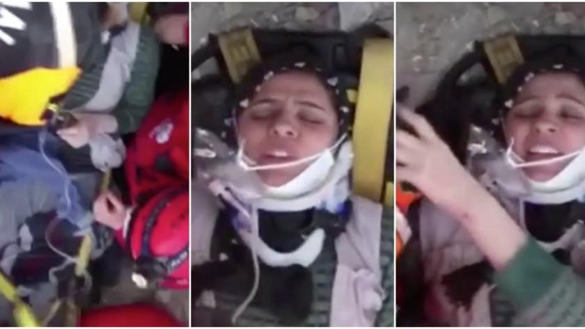 Enkazdan kurtarılan kadın: Çocuklarım merdivende kalmışlar