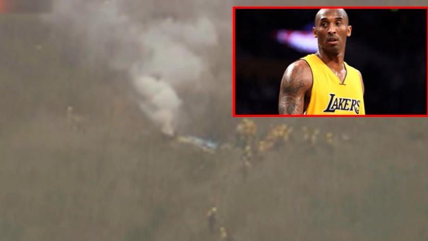 İşte Kobe Bryant'ın hayatını kaybettiği kazadan ilk kareler