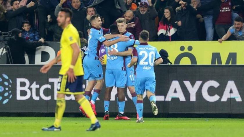 Trabzonspor - Fenerbahçe maç sonucu: 2-1 özet ve golleri izle