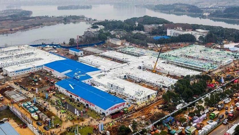 Çin, Vuhan'da bin kişilik hastaneyi 10 günde tamamladı! video izle