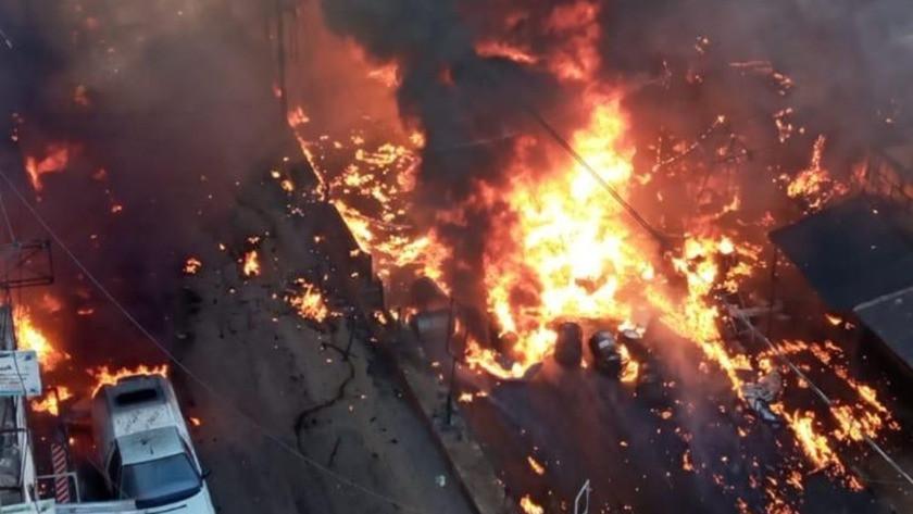 Afrin'de 8 kişinin hayatını kaybettiği patlama anı kamerada