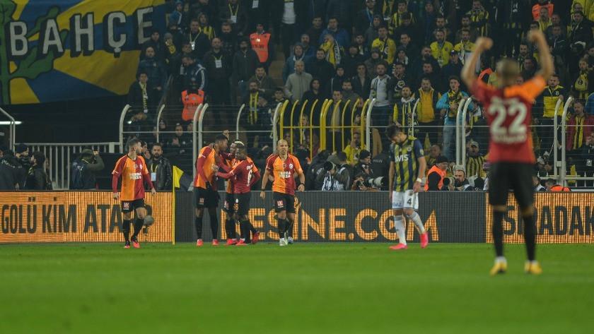 Fenerbahçe - Galatasaray maç sonucu: 1-3 özet ve golleri izle