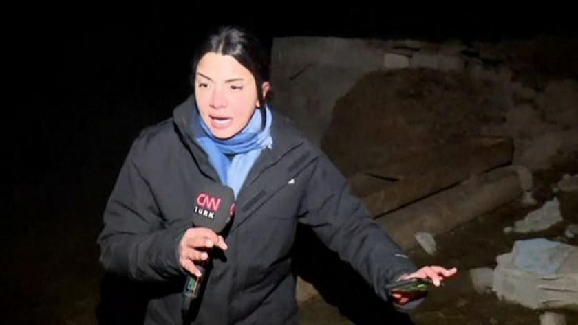 CNN muhabiri depreme canlı yayında yakalandı ! İşte o anlar...