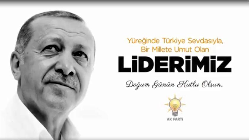 AK Parti'den Erdoğan'a klipli doğum günü kutlaması