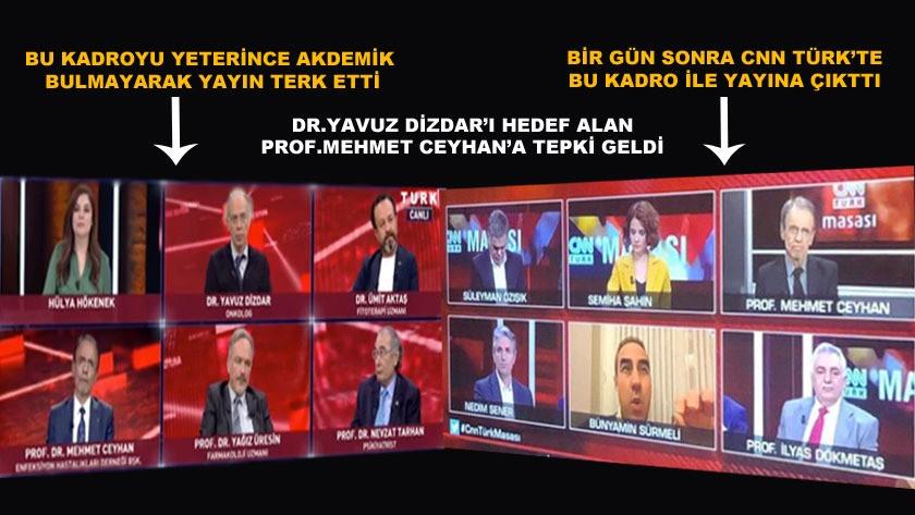 Prof. Dr. Mehmet Ceyhan'ın katıldığı yayından dolayı tepki geldi