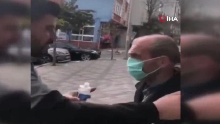Tepki toplayan görüntü ! Zorla maske takıp kafasına kolonya döktüler !
