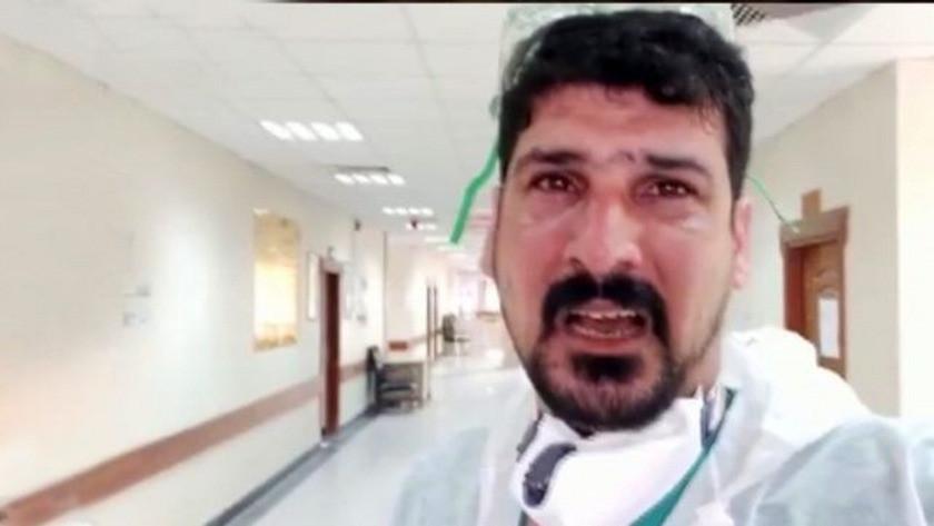 Irak'ta bir doktor gözyaşlarına hakim olamadı