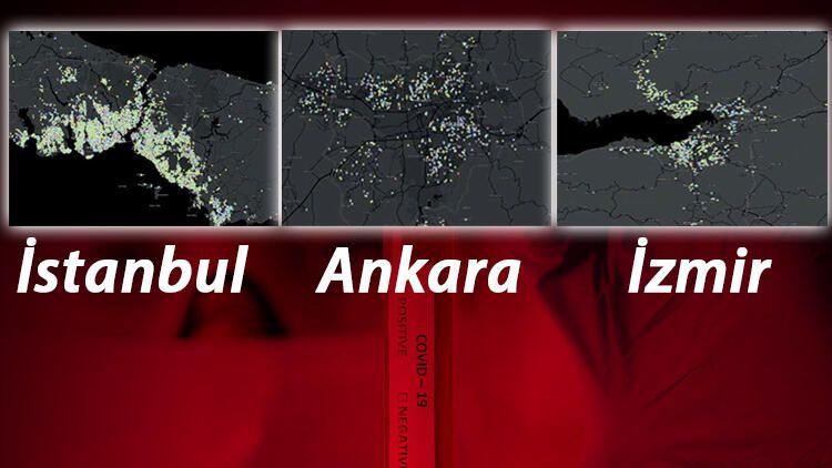 İşte Koronavirüs salgınında İstanbul, Ankara ve İzmir'de en riskli ilçeler - Sayfa 1
