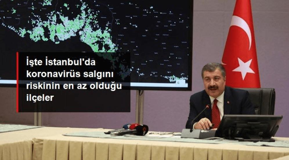 İstanbul'da koronavirüs salgını riski en az olan ilçeler - Sayfa 1