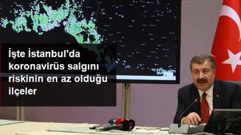 İstanbul'da koronavirüs salgını riski en az olan ilçeler
