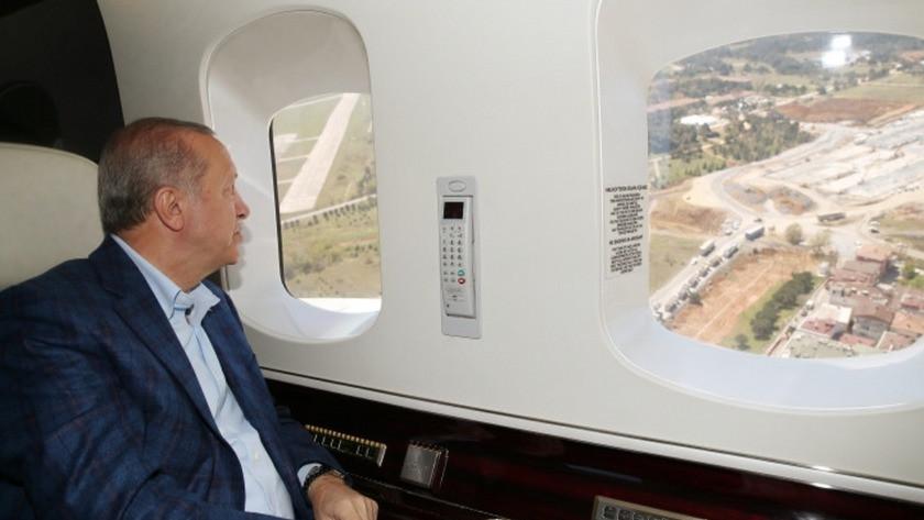 Erdoğan pandemi hastanelerini havadan inceledi