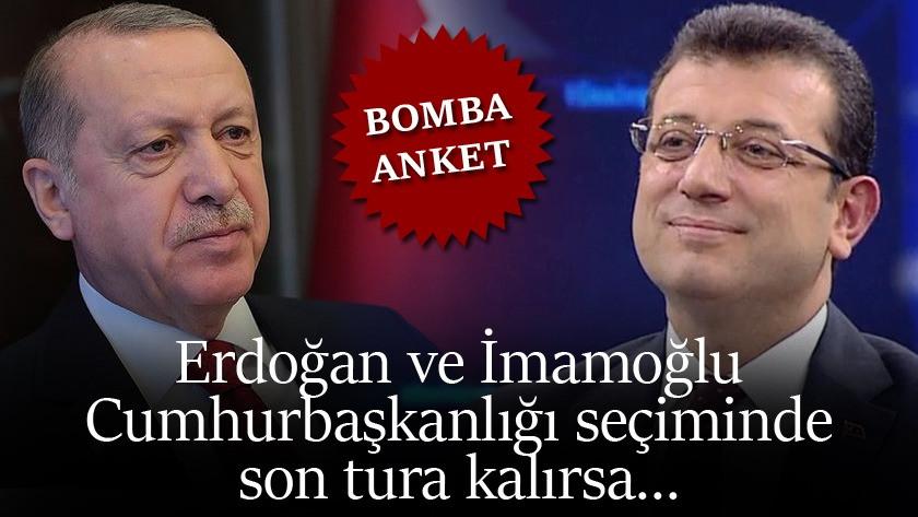 Erdoğan ve İmamoğlu arasında çarpıcı anket ! Cumhurbaşkanlığı seçimi !
