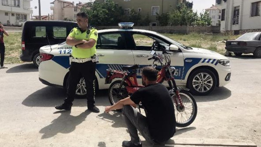 Denetimden kaçan motosikletteki 2 kişi gözaltına alındı