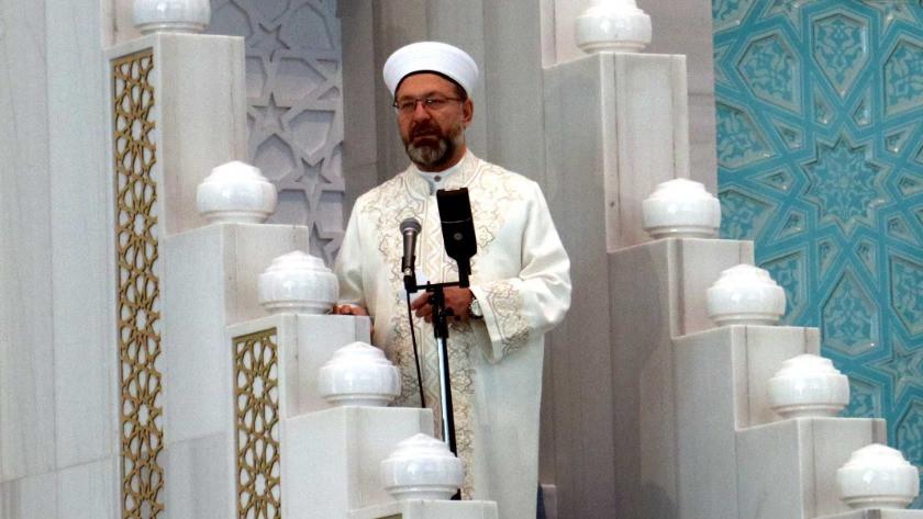 Diyanet İşleri Başkanı Ali Erbaş bayram namazını kıldırdı