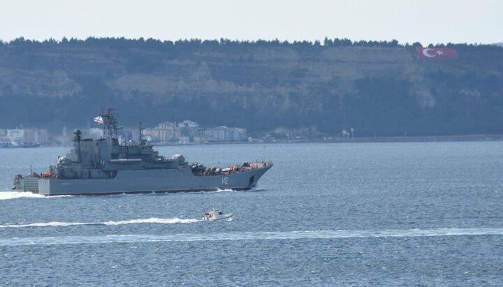 Rus savaş gemisi 'Novocherkassk', Çanakkale Boğazı'ndan geçti - Sayfa 1