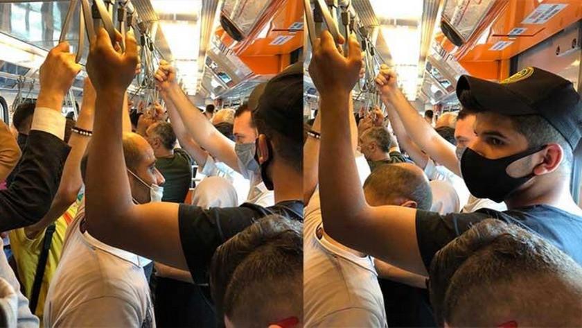 Metroda dikkat çeken yoğunluk