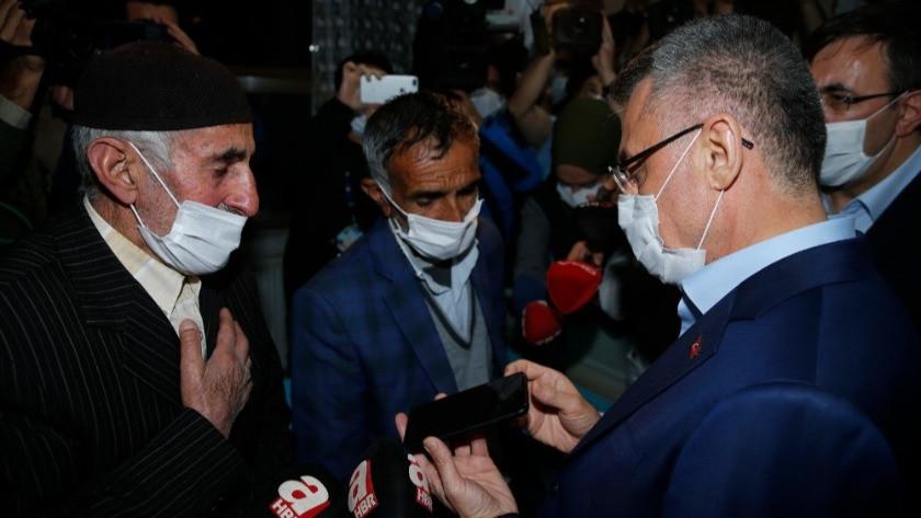 Erdoğan, deprem şehidi  korucunun ailesine başsağlığı diledi
