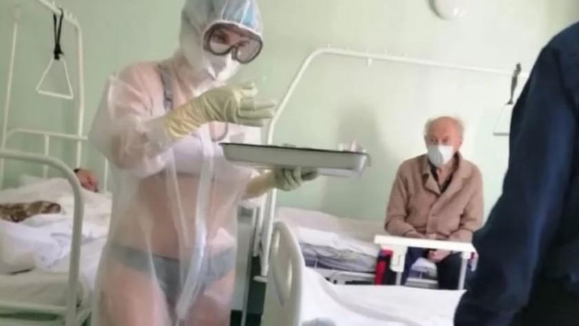 Hastalarını bikini ile tedavi eden hemşire manken oluyor !