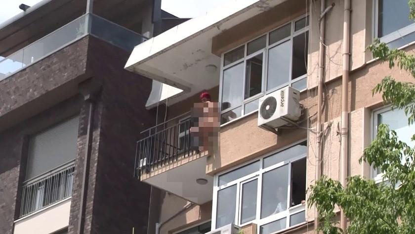 Kadıköy'de çırıl çıplak soyunan kadın kendini aşağı attı! İşte o anlar
