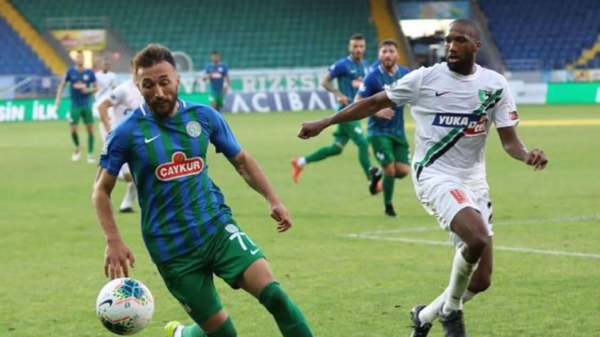 Çaykur Rizespor - Denizlispor maç sonucu: 2-2 özet ve golleri izle