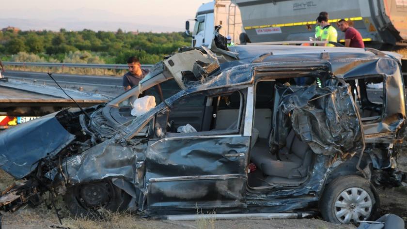 Niğde'de korkunç kaza: 4 yaralı