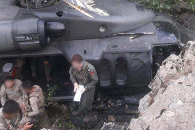 Helikopter, ormanlık ve sarp alana zorunlu iniş yaptı - Sayfa 1