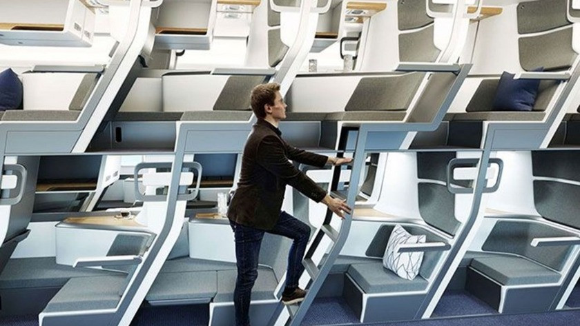 Pandeminin etkisiyle  İki katlı uçak yolculuğu geliyor!