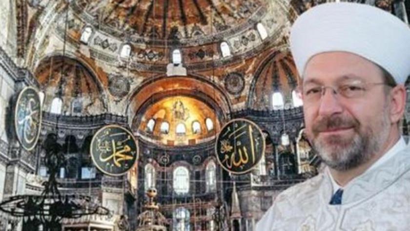 Ali Erbaş duyurdu ! Ayasofya'da 700 ila 1000 kişi namaz kılacak
