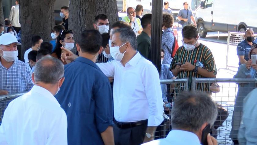 İstanbul Valisi Ali Yerlikaya Ayasofya Camii'ne ziyarete geldi