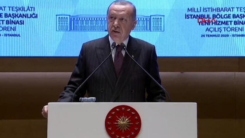 Cumhurbaşkanı Erdoğan MİT binası açılışında konuştu