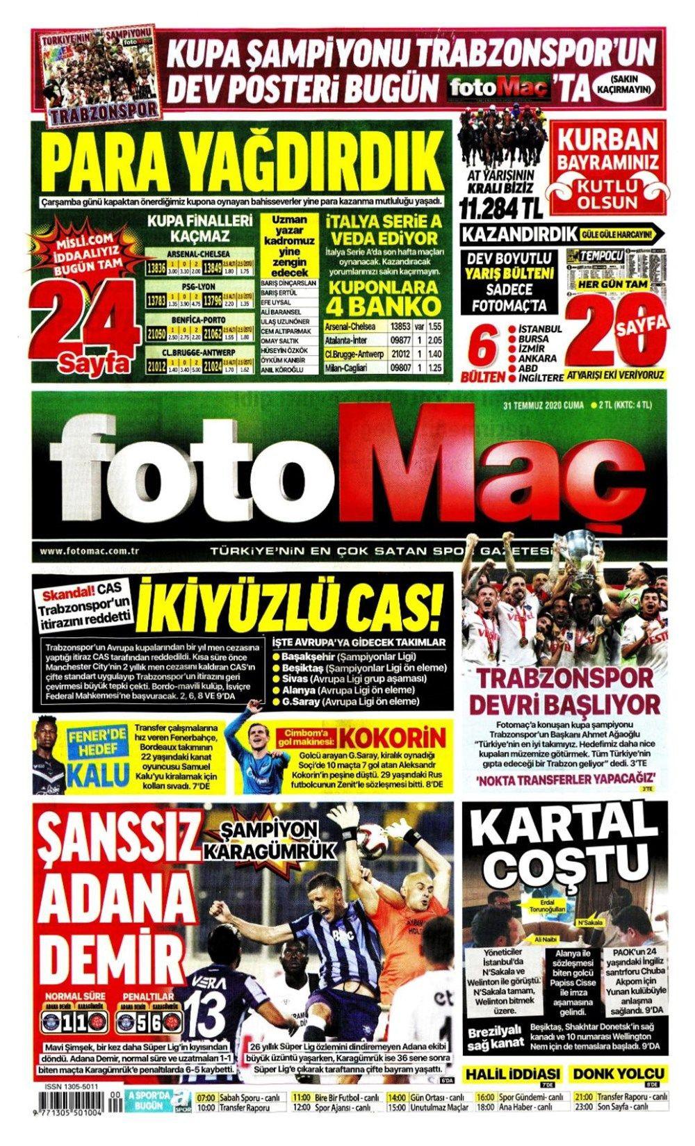 31 Temmuz günün spor manşetleri ! - Sayfa 4