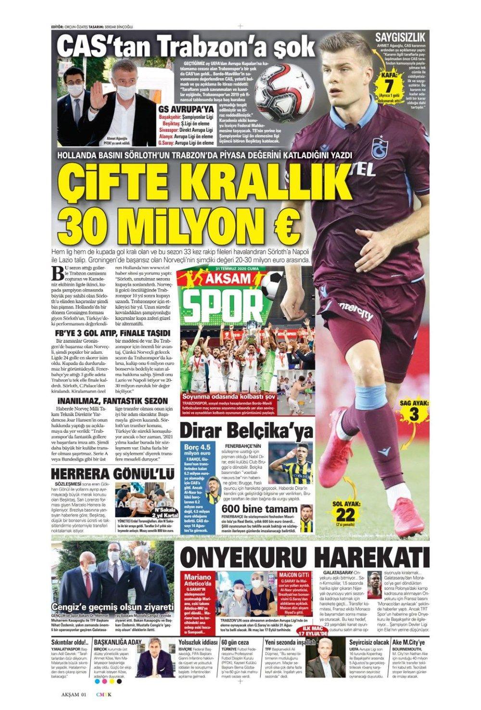 31 Temmuz günün spor manşetleri ! - Sayfa 3