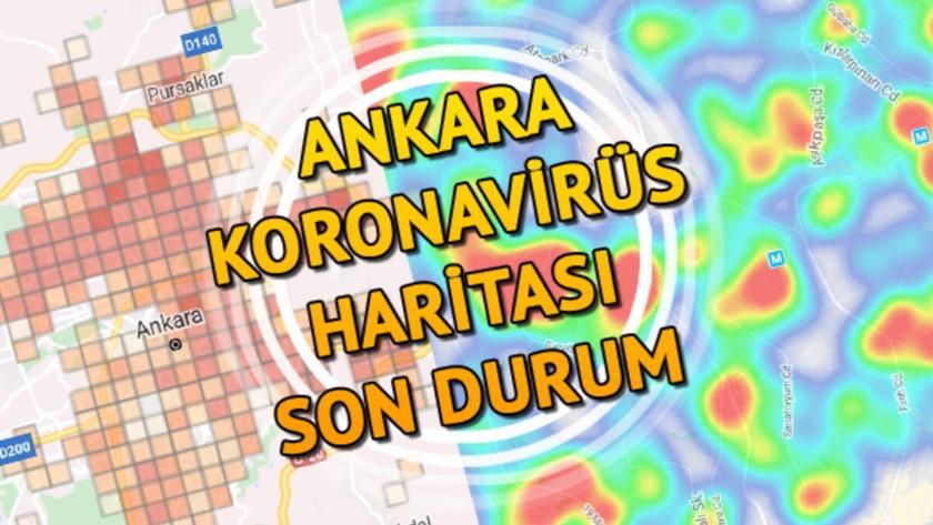İşte Ankara'nın ilçe ilçe koronavirüs risk haritası..