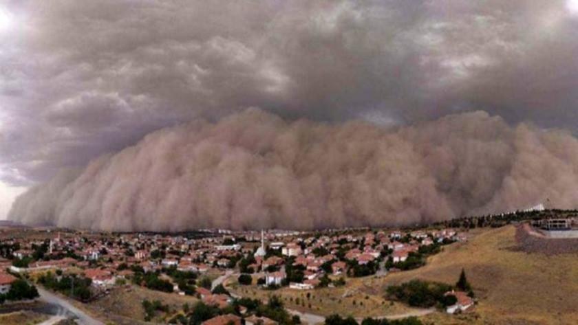 İşte Ankara'daki kum fırtınasının ardından oluşan görüntü !