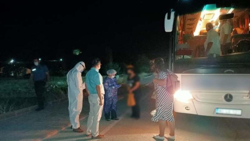 Koronavirüs testi pozitif çıkan kadın Kırşehir otobüsünde yakalandı