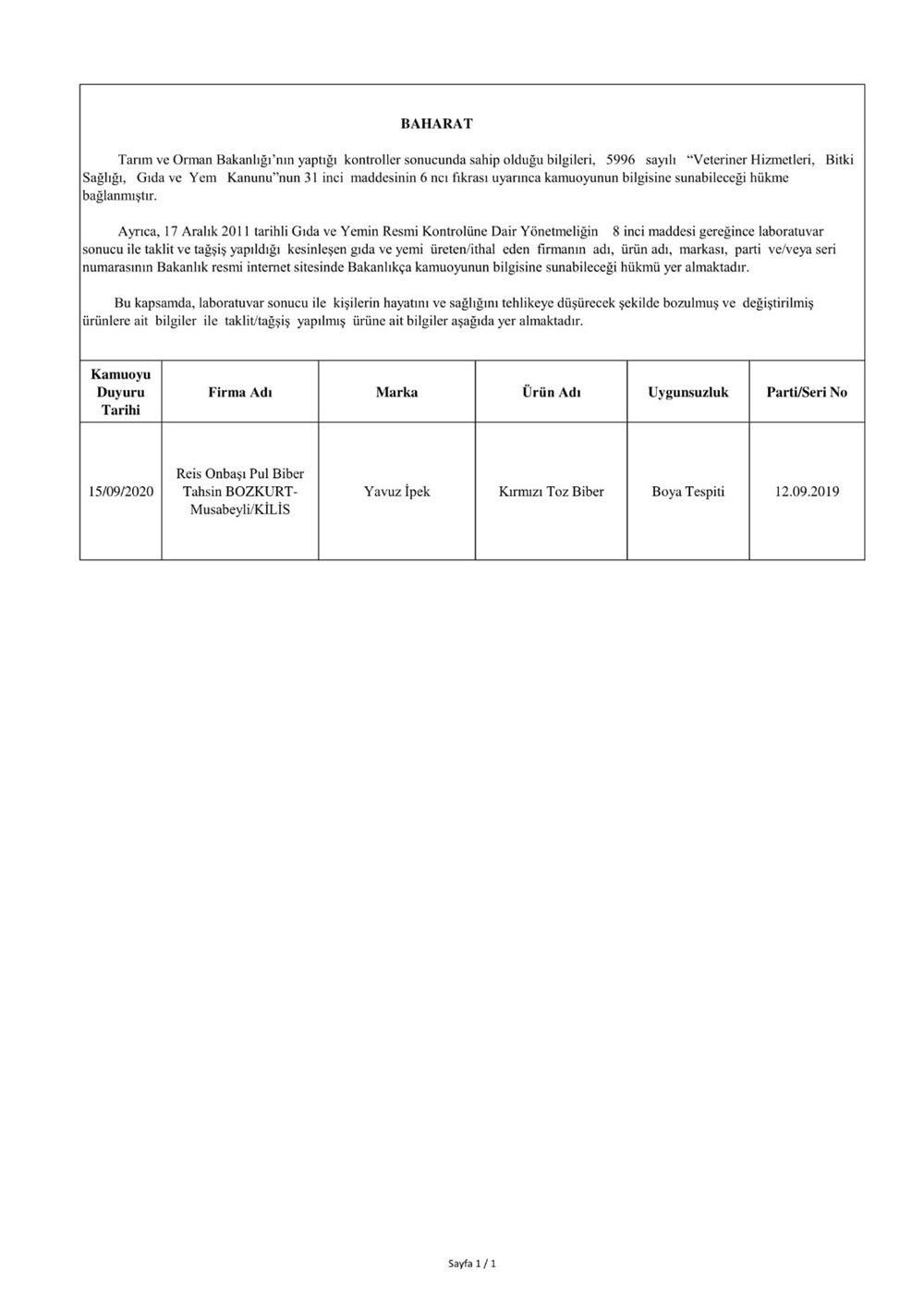 Tarım ve Orman Bakanlığı hileli gıdaların listesini tek tek açıkladı - Sayfa 4
