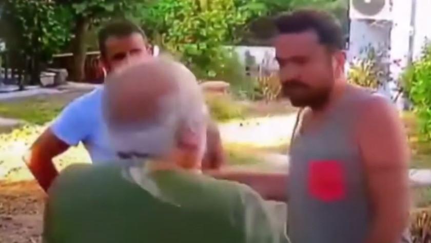 Halil Sezai'nin komşusunu tekme tokat dövdüğü anlar kamerada