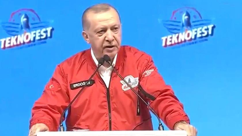 Cumhurbaşkanı Erdoğan'dan Teknofest 2020'de önemli açıklamalar