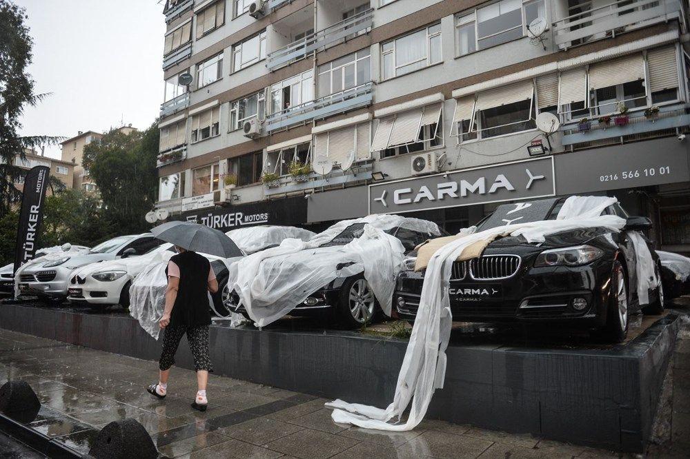 İstanbul'da milyonluk araçları doludan korumak için bunları yaptılar - Sayfa 1
