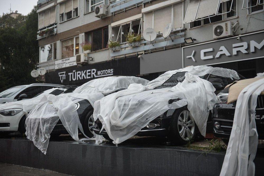 İstanbul'da milyonluk araçları doludan korumak için bunları yaptılar - Sayfa 2