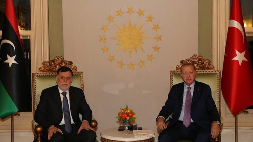 Erdoğan ile Libya Başbakanı Serrac'ın görüşmesi başladı