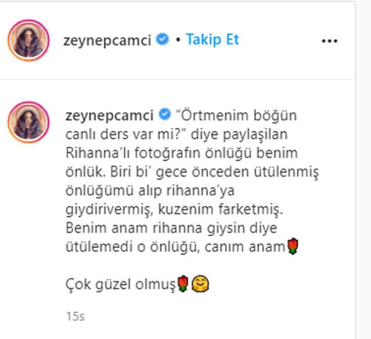 Zeynep Çamcı'nın Rihanna paylaşımı olay oldu! - Sayfa 2