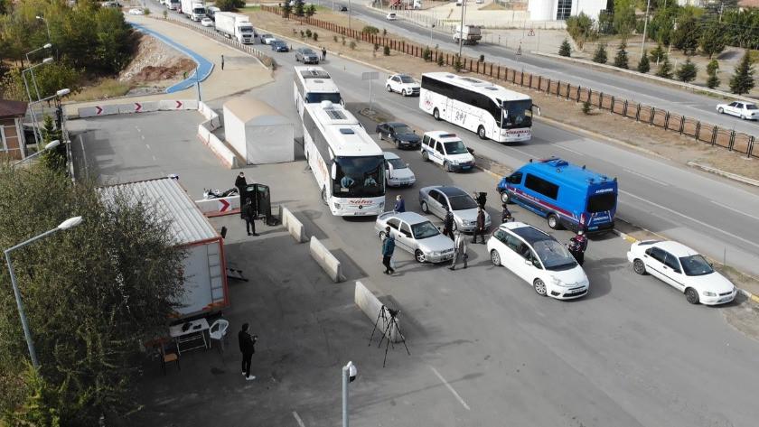 Kırıkkale'de otobüslerde koronavirüs denetimi