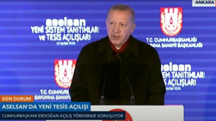 Erdoğan, Aselsan Yeni Sistem Tesis açılışında konuşuyor