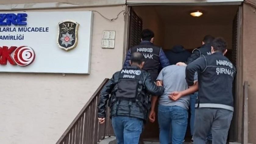 Şırnak'taki uyuşturucu operasyonunda 3 tutuklama
