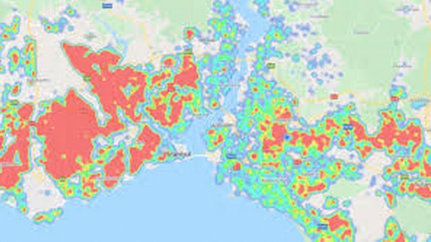 İstanbul'un koronavirüs haritası!